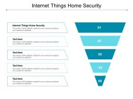 Internet Things Home Security Ppt Powerpoint Presentation Icon Portrait Cpb