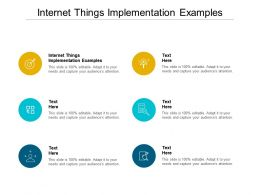 Internet Things Implementation Examples Ppt Powerpoint Presentation Pictures Themes Cpb