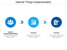 Internet Things Implementation Ppt Powerpoint Presentation Summary Slideshow Cpb