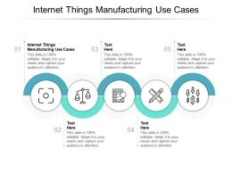 Internet Things Manufacturing Use Cases Ppt Powerpoint Presentation Gallery Cpb
