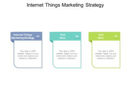 Internet Things Marketing Strategy Ppt Powerpoint Presentation Summary Samples Cpb