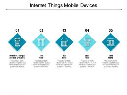 Internet Things Mobile Devices Ppt Powerpoint Presentation Model Deck Cpb