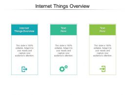 Internet Things Overview Ppt Powerpoint Presentation Influencers Cpb