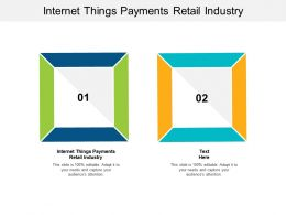 Internet Things Payments Retail Industry Ppt Powerpoint Presentation Infographic Cpb