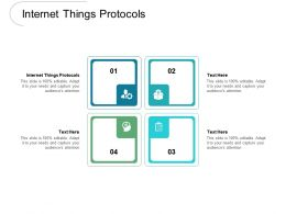 Internet Things Protocols Ppt Powerpoint Presentation File Ideas Cpb