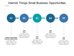 Internet Things Small Business Opportunities Ppt Powerpoint Presentation Infographics Ideas Cpb