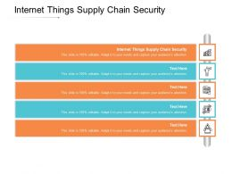Internet Things Supply Chain Security Ppt Powerpoint Presentation Ideas Outline Cpb