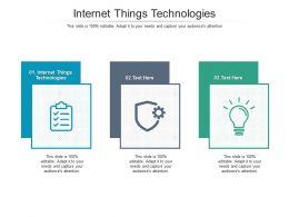 Internet Things Technologies Ppt Powerpoint Presentation Portfolio Slideshow Cpb