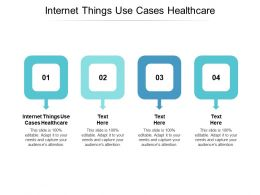 Internet Things Use Cases Healthcare Ppt Powerpoint Presentation File Example Introduction Cpb