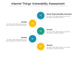 Internet Things Vulnerability Assessment Ppt Powerpoint Presentation Portfolio Ideas Cpb