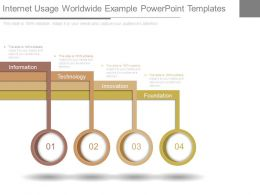 Internet Usage Worldwide Example Powerpoint Templates