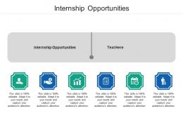 Internship Opportunities Ppt Powerpoint Presentation Layouts Pictures Cpb