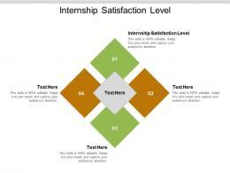 Internship Satisfaction Level Ppt Powerpoint Presentation Outline Demonstration Cpb