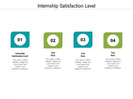 Internship Satisfaction Level Ppt Powerpoint Presentation Summary Demonstration Cpb