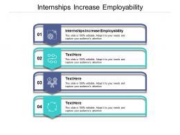 Internships Increase Employability Ppt Powerpoint Presentation Inspiration Example Cpb