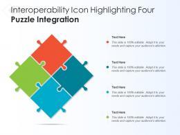 Interoperability Icon Highlighting Four Puzzle Integration