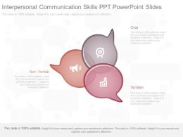 Interpersonal Communication Skills Ppt Powerpoint Slides