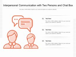 Interpersonal Communication With Two Persons And Chat Box