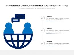 Interpersonal Communication With Two Persons On Globe