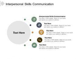 Interpersonal Skills Communication Ppt Powerpoint Presentation Inspiration Designs Cpb