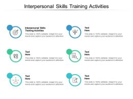 Interpersonal Skills Training Activities Ppt Powerpoint Presentation Inspiration Graphics Cpb