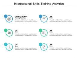 Interpersonal Skills Training Activities Ppt Powerpoint Presentation Inspiration Graphics Cpb