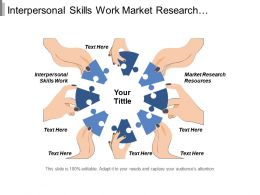 Interpersonal Skills Work Market Research Resources Angel Investor Cpb