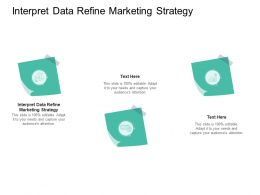 Interpret Data Refine Marketing Strategy Ppt Powerpoint Presentation Styles Design Ideas Cpb