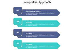 Interpretive Approach Ppt Powerpoint Presentation Pictures Show Cpb