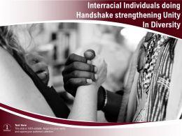 Interracial Individuals Doing Handshake Strengthening Unity In Diversity