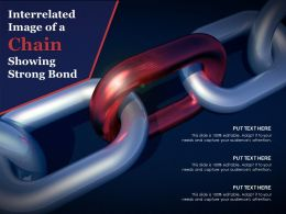 Interrelated Image Of A Chain Showing Strong Bond