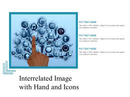 Interrelated Image With Hand And Icons