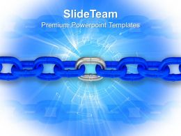 Interrelated Links Of Chain Powerpoint Templates Ppt Themes And Graphics 0213