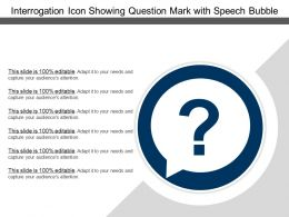 Interrogation Icon Showing Question Mark With Speech Bubble