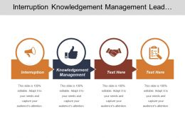 interruption_knowledgement_management_lead_generation_services_lead_list_development_cpb_Slide01