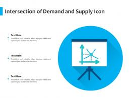 Intersection Of Demand And Supply Icon