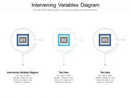 Intervening Variables Diagram Ppt Powerpoint Presentation Portfolio Gallery Cpb