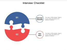 Interview Checklist Ppt Powerpoint Presentation Icon Graphics Cpb