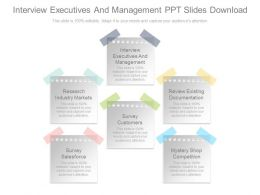 Interview Executives And Management Ppt Slides Download