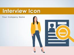 Interview Icon Candidate Resume Conferencing Conducting Evaluating