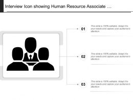 Interview Icon Showing Human Resource Associate Interaction Round