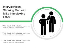 Interview Icon Showing Man With Mike Interviewing Other