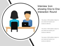 Interview Icon Showing One To One Interaction Round