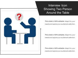 Interview Icon Showing Two Person Around The Table