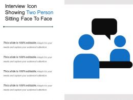 Interview Icon Showing Two Person Sitting Face To Face