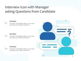 Interview Icon With Manager Asking Questions From Candidate
