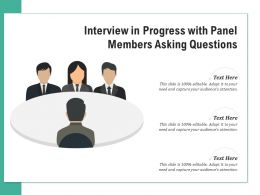 Interview In Progress With Panel Members Asking Questions