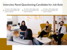 Interview Panel Questioning Candidate For Job Role