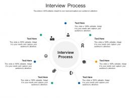Interview Process Ppt Powerpoint Presentation Example Cpb