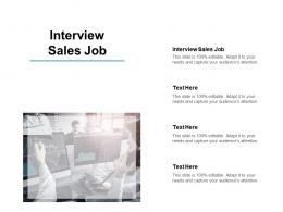 Interview Sales Job Ppt Powerpoint Presentation Gallery Guide Cpb